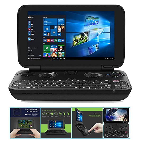 GPD WIN Aluminum Shell Version June 5th Update X7-8750 Gamepad NoteBook Tablet PC 5.5 Handheld Gaming Portable Video Game Console Windows 4GB/64GB (Color: Black)