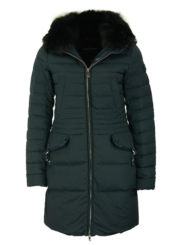 Peuterey Damen Ryan KS Fur Daunenmantel mit Fuchspelz-Kragen in Dunkel Blau kaufen