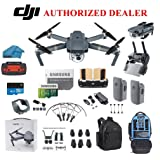 DJI Mavic Pro Drone Quadcopter 4K Professional Camera Gimbal Bundle Kit with 2 Batteries, 64GB SD Card + 3.0 Card Reader, Landing Gear, Prop Guards and Must Have Accessories with Backpack (Color: With Backpack, Tamaño: Mavic Pro)