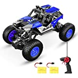 SPESXFUN Remote Control Car, 2018 Newest Vision RC Car Off Road RC Truck Hobby Toy Cars Small Electric Vehicle Crawler for Kids and Adults with Two Batteries (Color: Blue, Tamaño: Small)