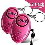 Personal Alarm, JDDZ 140 db Safe Siren Song Emergency Self Defense Protection Device Anti-Rape/Anti-Theft Security Mini LED Flashlight Women, Kids Elderly 2 Pack (Pink)