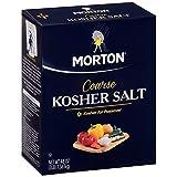 Morton Coarse Kosher Salt, 3 lbs. (pack of 2)