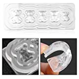 Casting Silicone Mold Bear Pattern 3D Silicon UV Nail Art Decoration Template Decals DIY Tools
