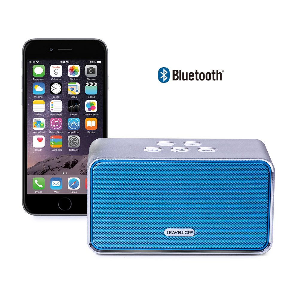 Travellor Classic Portable Wireless Bluetooth Speaker System ,Powerful Sound with build in Microphone ditmo s1 portable wireless bluetooth speaker with built in microphone high def sound