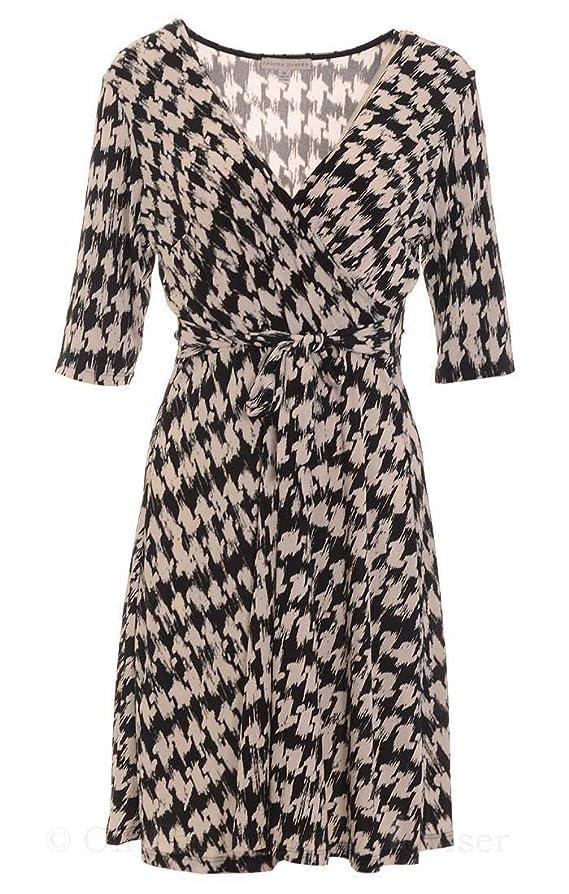 Sandra Darren Ivory Women's Abstract Print Sheath Dress