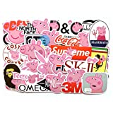 Peppa The Pig 100 Pcs Sticker Bomb Cute Decals Vinyls for Laptop, Luggage and More