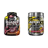 MuscleTech Phase8 Protein Powder, Sustained Release 8-Hour Protein Shake with Performance Series Vapor X5, Next Gen Pre-Workout Powder, Fruit Punch Blast