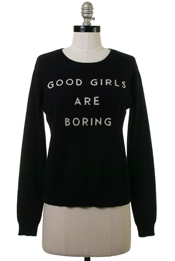 Milly Good Girls Cashmere Sweater in Black