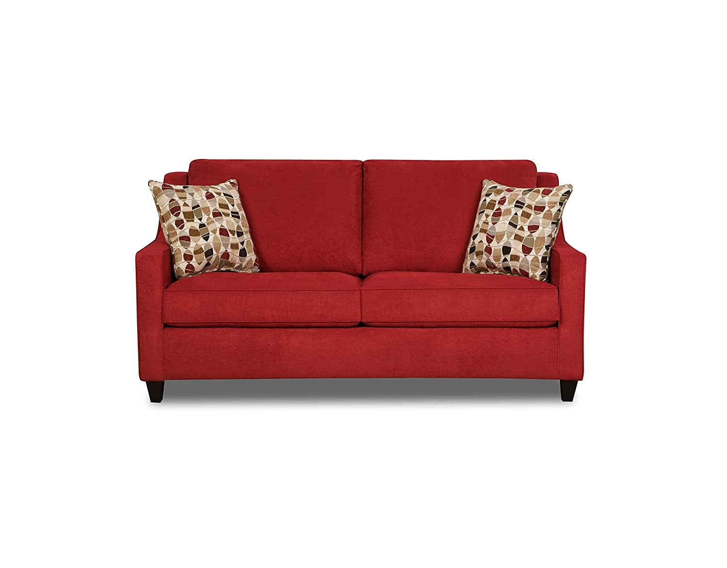 Simmons Upholstery Twillo Hide-a-Bed - Full - Blaze Red