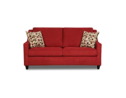 Simmons Upholstery Twillo Loveseat, Twillo Blaze Red