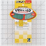 OLFA 1071799 QR-9S 9-1/2-Inch Square Frosted Advantage Acrylic Ruler (Color:
