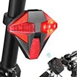 Tohsssik Bike Taillight with Turn Signals Rechargeable Bicycle Tail Light with Remote Control, 2018 Upgraded Design (Color: AF-5C)