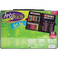 68-Piece Darice ArtyFacts Portable Art Studio Kit
