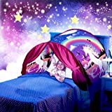 Dream Tent Unicorn Fantasy for Kids Play Tent Foldable Pop up Bed Tent Magic Playhouse Princess Secret Castle Birthday Christmas for Girls (Color: Unicorn)