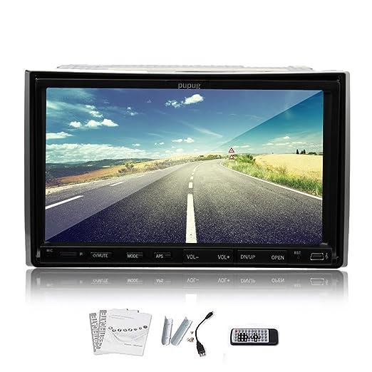 BT doble DIN pantalla Radio Auto Bluetooth del coche de Bluetooth DVD tactile Auto Radio Automotive 7 pulgadas de coches Lecteur DVD de la pantalla tš¢ctil de navegaciš®n GPS Auto Video Audio Autoradio stšŠrš&Sc