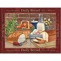 Daily Bread by Mary Lou Troutman - Kitchen Backsplash / Bathroom wall Tile Mural