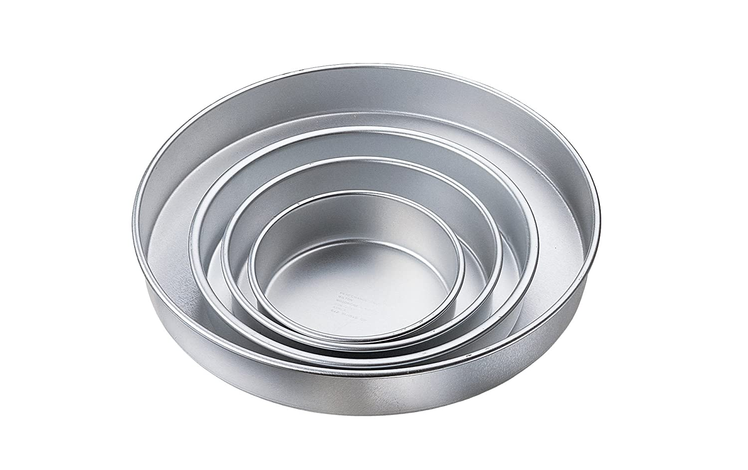 wilton round cake pan sizes