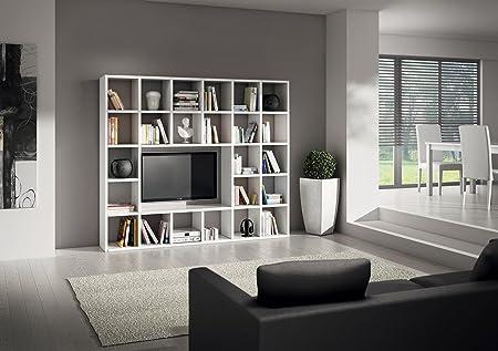 Lo Scrigno Arredamenti, Libreria/Parete Moderna bianco frassinato W571/M