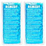 Gel Ice Packs for Injuries (2 Pack) – Soft Reusable Cold/Hot Compress for Injury, Pain Relief, Rehabilitation, Flexible Therapy for Knee, Shoulder, Back, Neck, Ankle (Tamaño: Regular Size Gel Packs)