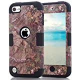 iPod Touch 6th Generation Camouflage Case, Hocase Heavy Duty Shockproof Hybrid Silicone Rubber Bumper+Hard Shell Protective Case for iPod Touch 5th/6th Generation - Camo/Black (Color: Camo/Black)