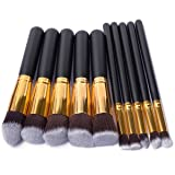 Makeup Brushes Set Malasiara 10pcs Cosmetic Brush Foundation Blending Blush Concealer Eye Face Lip Brushes for Powder Liquid Cream Complete Makeup Brush Kit Synthetic Bristles