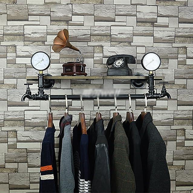 StandsL attaccapanni Retro multifunzione Wall Hose Iron Hanger Soggiorno Camera da letto Moda Gancio da parete Industrial Fengshui Abbigliamento Display Stand stand per abiti / appendiabiti ( Colore : C , dimensioni : 30*120cm )