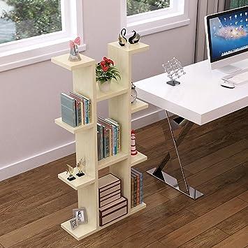 QIANGDA Scaffale Bambini Libreria Mensola Dei Fiori Scaffalature Espositive Alta Capacità, 60 X 20 X 120 Cm, 4 Colori Opzionale ( Colore : Maple color )