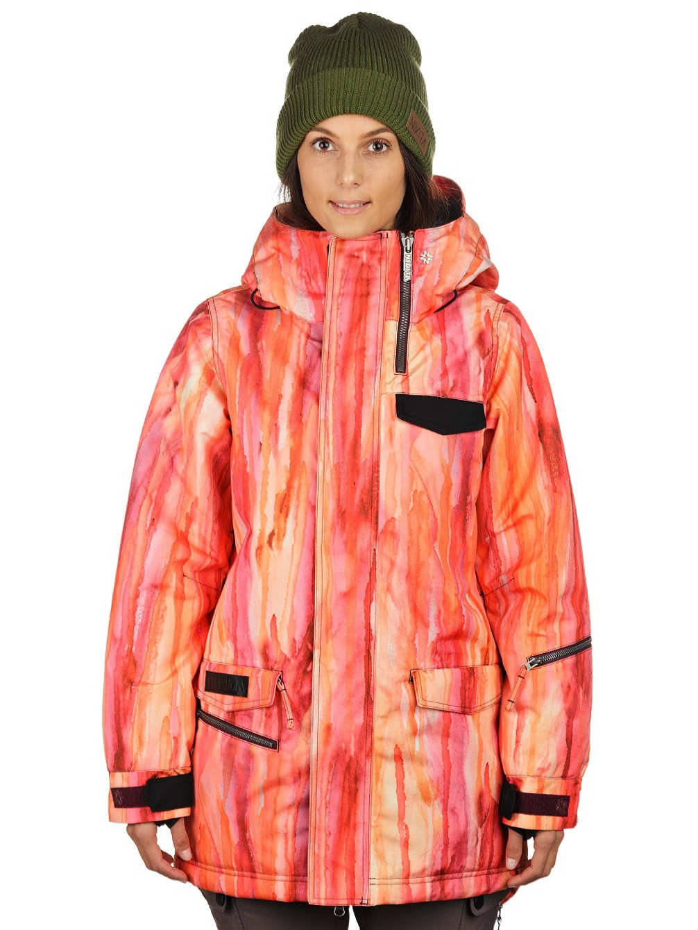 Damen Snowboard Jacke Nikita Sif Watercolor Print Jacket