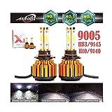 LED Headlight Bulbs 9005 / HB3 LED Fog Light Bulb / 9005 Headlights High Beam Replacement Kit - 12000LM Super Bright 6000K Cool White Car Lighting Accessories (Tamaño: 9005 HB3)