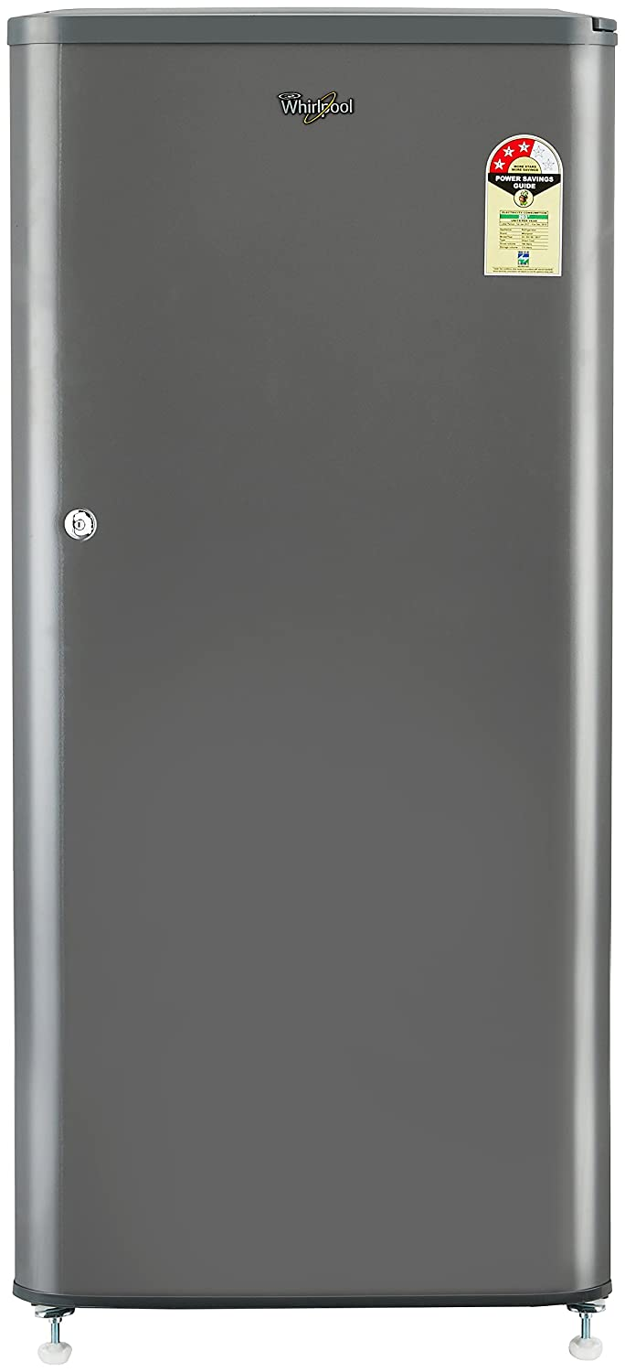 Whirlpool 190 L 3 Star Direct-Cool Single Door Refrigerator (WDE 205 CLS 3S SOLID GREY-E, Grey)-13% OFF