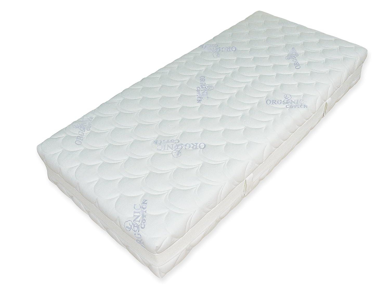 GoodDreams GD1000-1402003 orthopädische 7-Zonen Tonnentaschenfederkern-Matratze 1000 Organic Cotton, 140 x 200 cm, H3