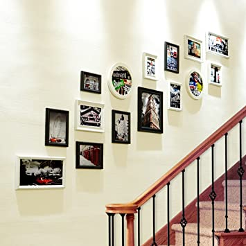 Escaleras creativas Decoración de la pared de la foto de la sala de estar ( Color : A )