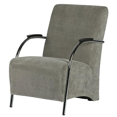 Sessel HALIFAX Ribcord grun Stuhl Armlehne Polsterstuhl Fernsehsessel Loungesessel
