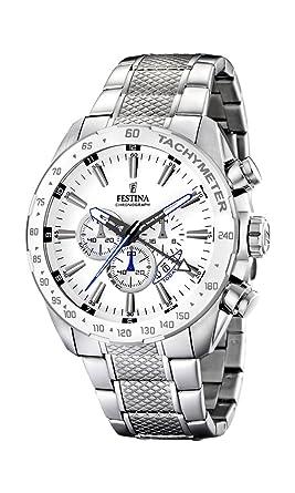 Festina - F16488 1 - Montre Homme - Quartz - Chronographe - Bracelet Acier  Inoxydable Argent  Great Chance! 8d8902dd690e