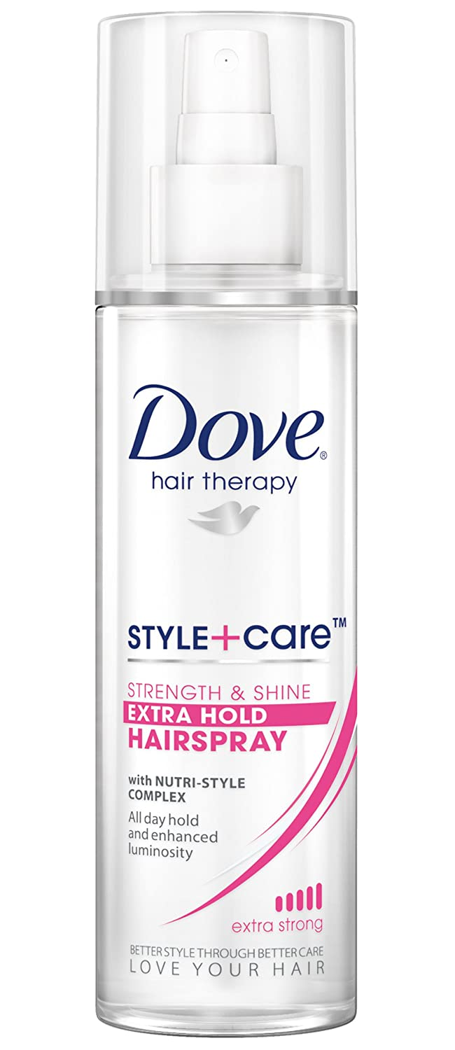 Dove Style + Care Hairspray, Strength & Shine Extra Hold 9.25 oz (Pack of 3)