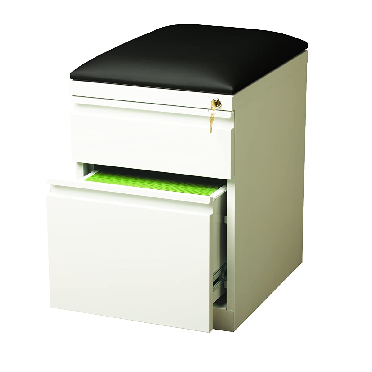"Hirsh Industries 20"" Deep Mobile Seat Box-File Cabinet in White"