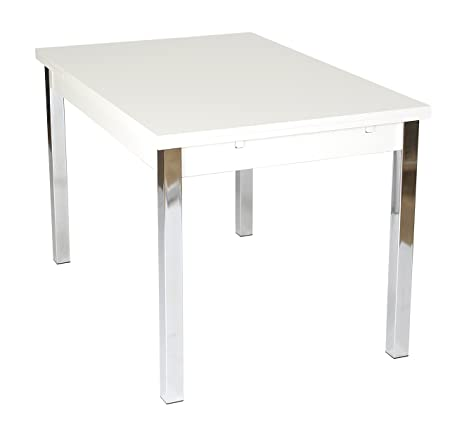 Furniture To Go Designer Extending Dining Table, 76 x 80 x 120 cm, White