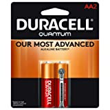 Duracell Quantum AA Alkaline Batteries - Long Lasting, All-Purpose Double A battery for Household and Business - 2 count (Color: Quantum, Tamaño: AA)