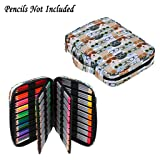 BTSKY Portable Colored Pencil Case - Colored Pencil Organizer Holds 166 Pencils or 112 Gel Pens Large Capacity Zippered Pencil Holder Gel pens (Glasses) (Color: Glasses)