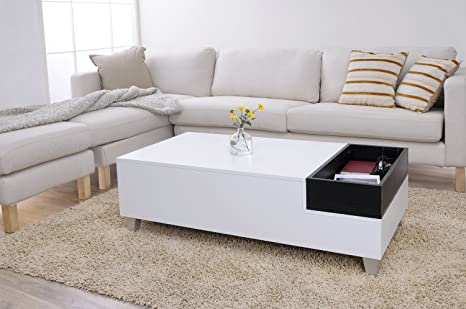 Superla Ultra-Modern Coffee Table with Flip-Top Tray