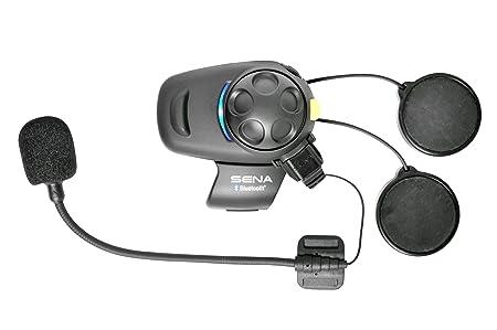 Sena SMH5-FM-01 Ecouteurs et Intercom Bluetooth pour Motards avec Radio FM Intégrée, demi Casque