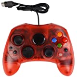 Classic Xbox S Type Wired Gamepad Joypad Joysticks Controller for Microsoft Xbox Compatible (Red) (Color: Red)