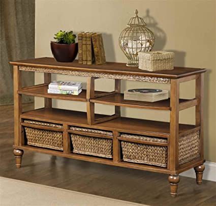 Entertainment Center with Three Basket