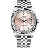 Rolex Datejust 36 Stainless Steel Watch Pink Dial 116234 (Color: Pink)