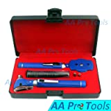 AA PRO LED POCKET OTOSCOPE SET BLUE !DOUBLE HANDLE ! 2 FREE REPLACEMENT BULBS ! BRIGHT WHITE LIGHT LED A+ QUALITY