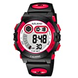 AZLAND Updated Version Added Three Alarms - Multifunctional Waterproof Boys Girls Watch Digital Sports Kids Watches