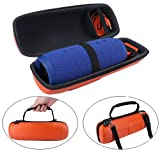 Carrying Case for JBL Charge3 - MASiKEN PU Protective Travel Carry Case Speaker Case Storage Bag Pouch for JBL Charge 3 Wireless Bluetooth Speaker - Orange