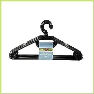 1000x KunststoffKleiderbügel schwarz mit Hosensteg, Krawattenhalter und drehbarem Haken NEU  Kundenbewertung und weitere Informationen