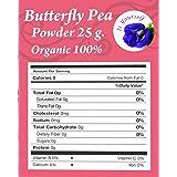 butterfly pea tea flowers Powder 0.88 oz. Organic 100% - Dried Pure Butterfly Pea Flowers