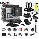 SJCAM SJ6 Kit (Including Extra Battery, 6-in-1 Accessories)SJ6 LEGEND Dual Screen 2? LCD Touch Screen 2880×2160 Novatek NT96660 Panasonic MN34120PA CMOS 4K Ultra HD Sport DV Action Camera Silver